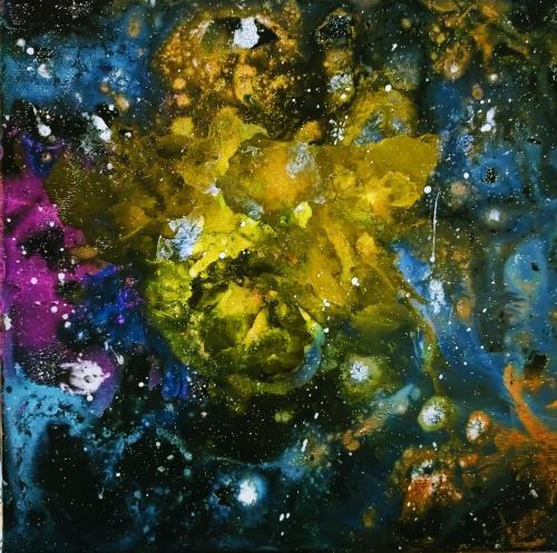 Golden rose nebula